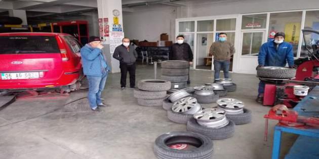 Aralık ayı yaklaştı oto lastikçilerinin iş yoğunluğu arttı