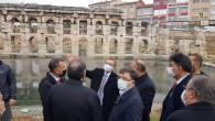 Vali Polat ve Milletvekili Başer, Roma Hamamını inceledi