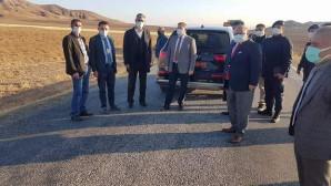 Vali Polat, BSK Asfalt yol yapım çalışmalarını yerinde inceledi