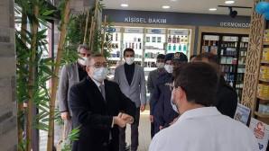 Vali Polat Sarıkaya'da esnaf ziyaretinde bulundu