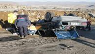 Trafik kazasında 1 öğretmen öldü,2 öğretmen yaralandı