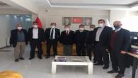 Yalçınkaya ve köy muhtarlarından Başkan Başer'e ziyaret