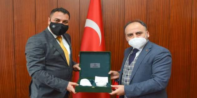 Alkan'dan Başkan Ekinci'ye ziyaret
