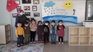 Minik öğrencilerden yağmur suyu hasadı projesi