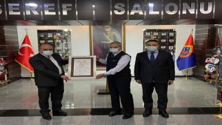 Çelik'ten Konya İl Jandarma Komutanına ziyaret