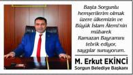 Sorgun Belediye Başkanı Ekinci'den bayram mesajı
