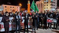 Yozgat'ta STK'lar İsrail'i protesto etti
