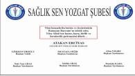 Sağlık Sen Yozgat Şube Başkanı Erciyas'tan Bayram mesajı
