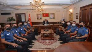 Komiser yardımcılarından Başkan Köse'ye ziyaret