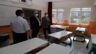 Vali Polat, okullarda incelemelerde bulundu