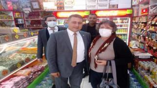 Milletvekili Sedef'ten esnaf ziyareti
