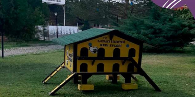 Sarıkaya Belediyesinden sokak hayvanlarına beslenme kulübesi