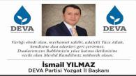DEVA Partisi İl Başkanı Yılmaz Yozgat halkının kandilini kutladı