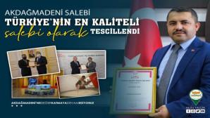 Akdağmadeni Salebi patenti alındı