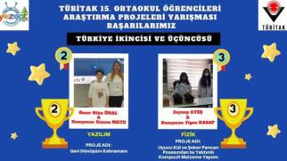 TÜBİTAK'ta Türkiye 2 ve 3'lüğü Yozgat'tan