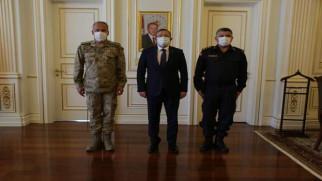 Tuğgeneral Okyar'dan Vali Polat'a ziyaret
