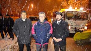 Yozgat'ta etkili olan kar yağışı kenti beyaza büründü