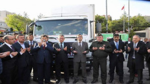 Yozgat'tan Güneydoğu'daki güvenlik güçlerine TIR dolusu hediye