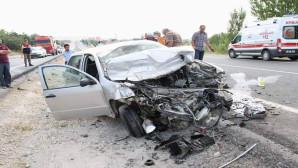 Yozgat'ta trafik kazası : 1 ölü, 4 yaralı