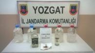 Yozgat Jandarmadan kaçak içki operasyonu