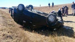Otomobil şarampole uçtu: 1 ölü, 5 yaralı