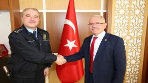 Emniyet Müdürü Çengeloğlu'ndan Rektör Karacabey'e iadeyi ziyaret