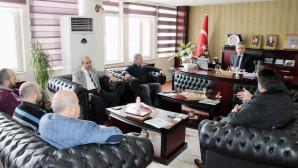 Başkan Arslan'a esnaftan teşekkür ziyareti