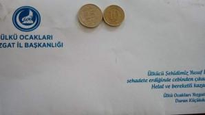 Yozgat Ülkü Ocağından 500 esnafa kapalı zarf içerisinde siftah