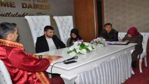 Yozgat'ta 14 Şubat'ta 3 çiftin nikahı kıyıldı