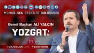 Memur Sen Genel Başkanı Yalçın, Yozgat'ta teşkilatı ile buluşacak
