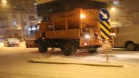 Yozgat'ta dün gece kar ve tipi etkili oldu