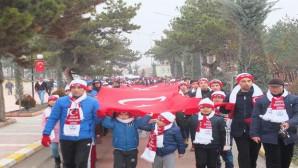 Yozgat'ta Sarıkamış şehitleri için yürüyüş düzenlendi
