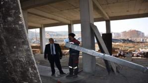 İl Milli Eğitim Müdürü Yazıcı, yapım inşaatı devam eden okulları inceledi
