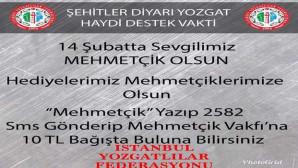 İstanbul Yozgatlılar Federasyonundan Mehmetçiğe destek kampanyası