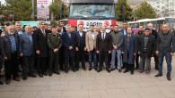 Yozgat'tan 100 adet kurbanlık koyun Mehmetçiklere dualarla gönderildi
