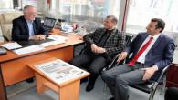 Akgün ve Şaşmaz'dan gazetemize ziyaret