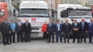 Yozgat'tan 16 TIR Doğu Guta ve Afrin'e yardım için yola çıktı