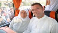 Hac yolculuğu için Yozgat'tan ilk kafile dualarla uğurlandı