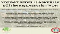 İstanbul Yozgatlılar Federasyonu'ndan eğitim kışlası çağrısı