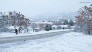 Yozgat güne beyaz kar örtüsüyle uyandı