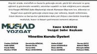 MÜSİAD Yozgat Şube Başkanlığı Ramazan Bayramı mesajı