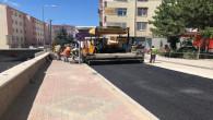 Yozgat Belediyesi sıcak asfalt çalışmalarına devam ediyor