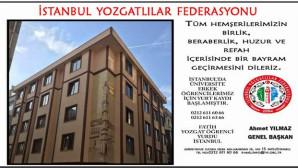 İstanbul Yozgatlılar Federasyonundan Bayram mesajı