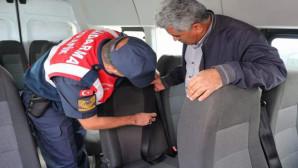 Jandarma'dan öğrenci taşıyan servislere denetim