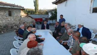 Vali Çakır, köy sakinlerinin sorunlarını dinledi