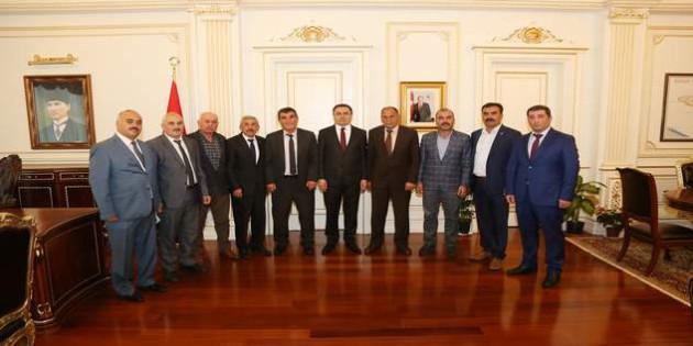 Muhtarlardan Vali Kadir Çakır'a ziyaret