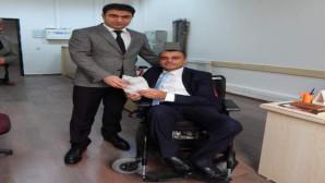 Başsavcı Uçak, engelli personellerini unutmadı