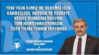 Yozgat Belediye Başkanı Celal Köse'den yeni yıl mesajı