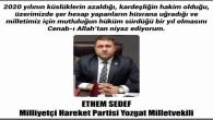 MHP Yozgat Milletvekili Ethem Sedef, Yozgat halkının yeni yılını kutladı