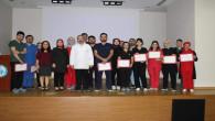 Şehir Hastanesinde 17 sağlık çalışanına yoğun bakım sertifikası verildi